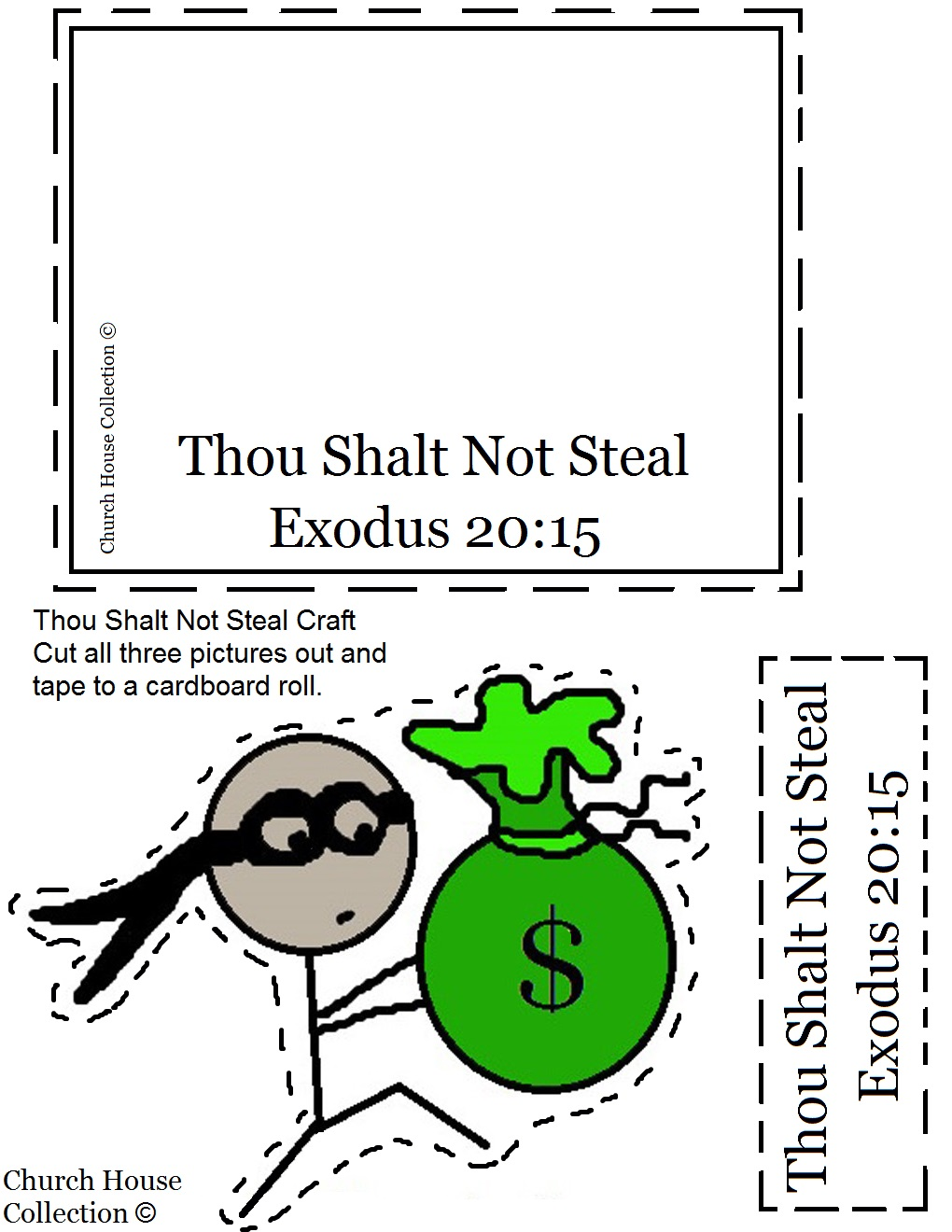 Thou Shalt Not Steal Toilet Paper Roll Craft