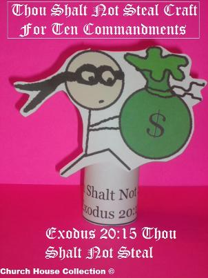 Thou Shalt Not Steal Toilet Paper Roll Craft For Ten Commandments