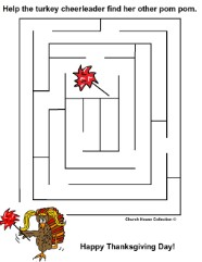 Thanksgiving Turkey Maze