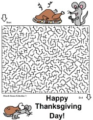 Hard Thanksgiving Maze