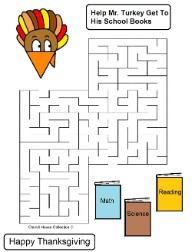 Turkey Mazes For School Teachers