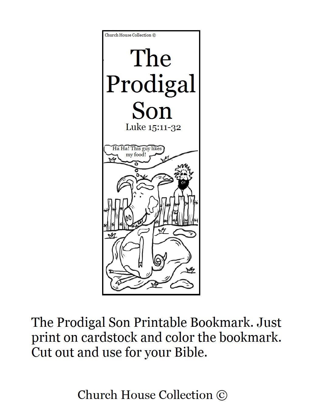 Church House Collection Blog: The Parable Of The Prodigal Son Bookmark
