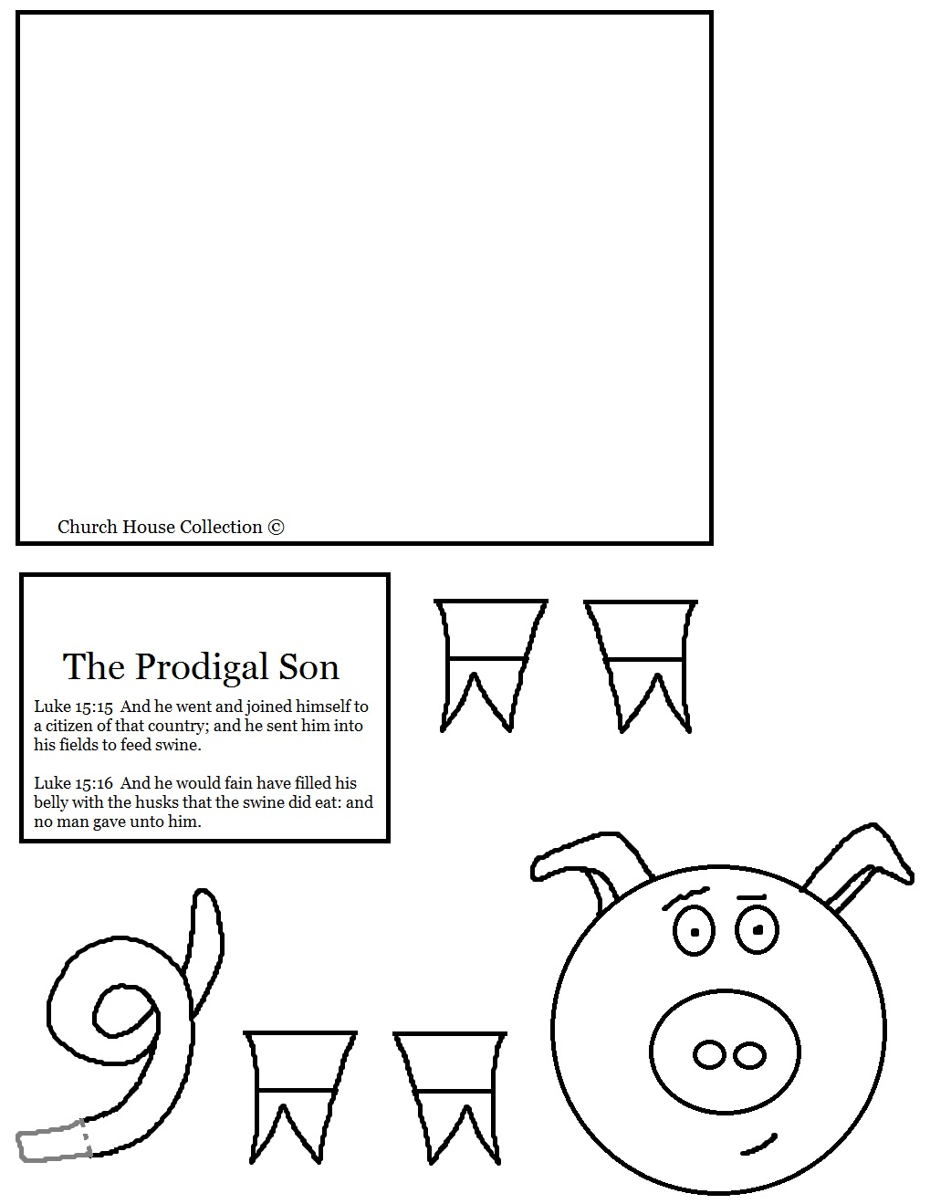 The Prodigal Son Pig Toilet Paper Roll Craft