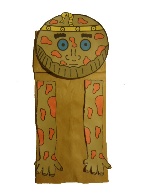 The 10 Plagues of Egypt Boils Egyptian Paper Bag Craft