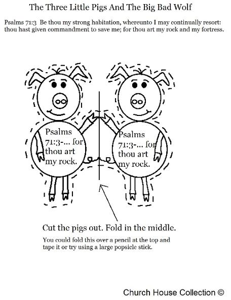 The three little pigs card carft