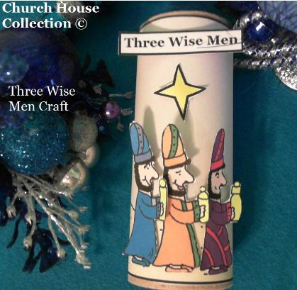 Three Wise Men Toilet Paper Roll Craft Christmas Sunday school kids