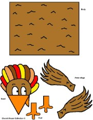 Turkey Toilet Paper Roll Template