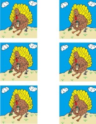 Turkey Doing Crafts Template