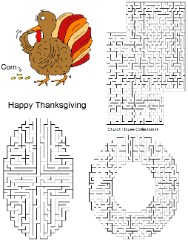 Thanksgiving Turkey  Eating Corn Maze