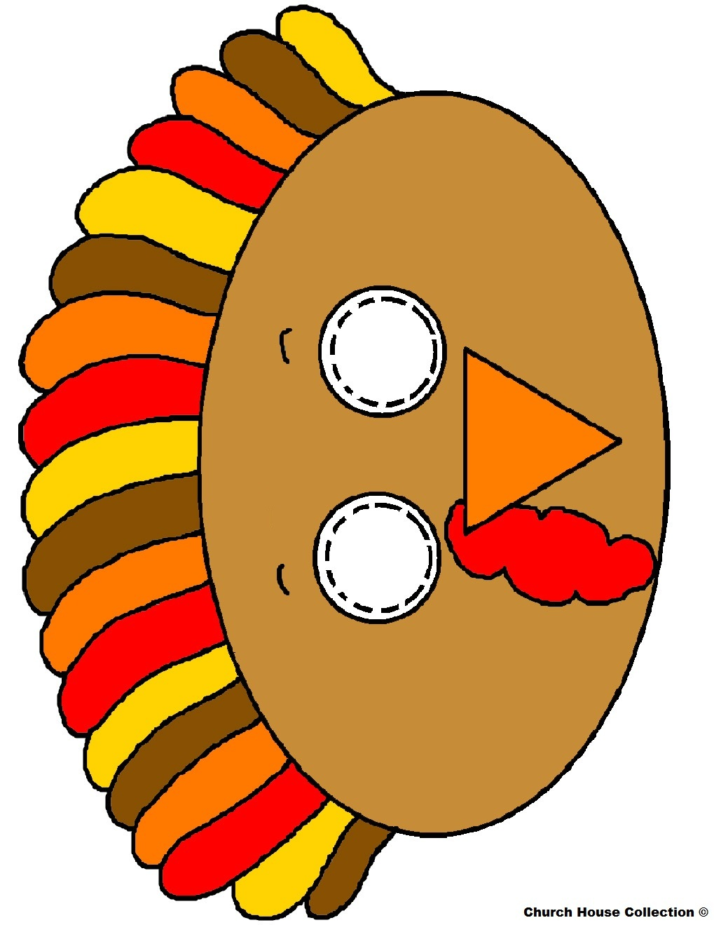 Turkey Craft With Kids Face