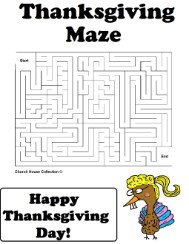 Thanksgiving Turkey Maze For School Teachers