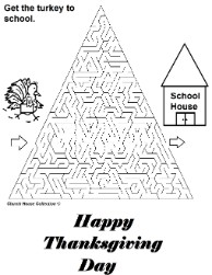 Thanksgiving Turkey Get The Turkey To School Maze Hard