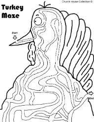 Easy Turkey Maze For School