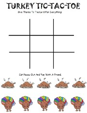 Turkey Tic Tac Toe