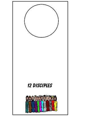 Twelve Disciples Doorknob Hanger