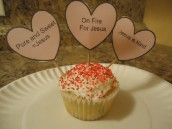Valentine's Day Crafts- Valentine Jesus Sweetheart candy Cupcakes