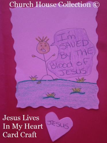Valentine Jesus Lives In My Heart Card Craft