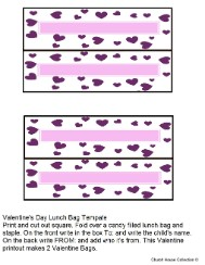 Valentine's Day Treat Bag Toppers For Kids