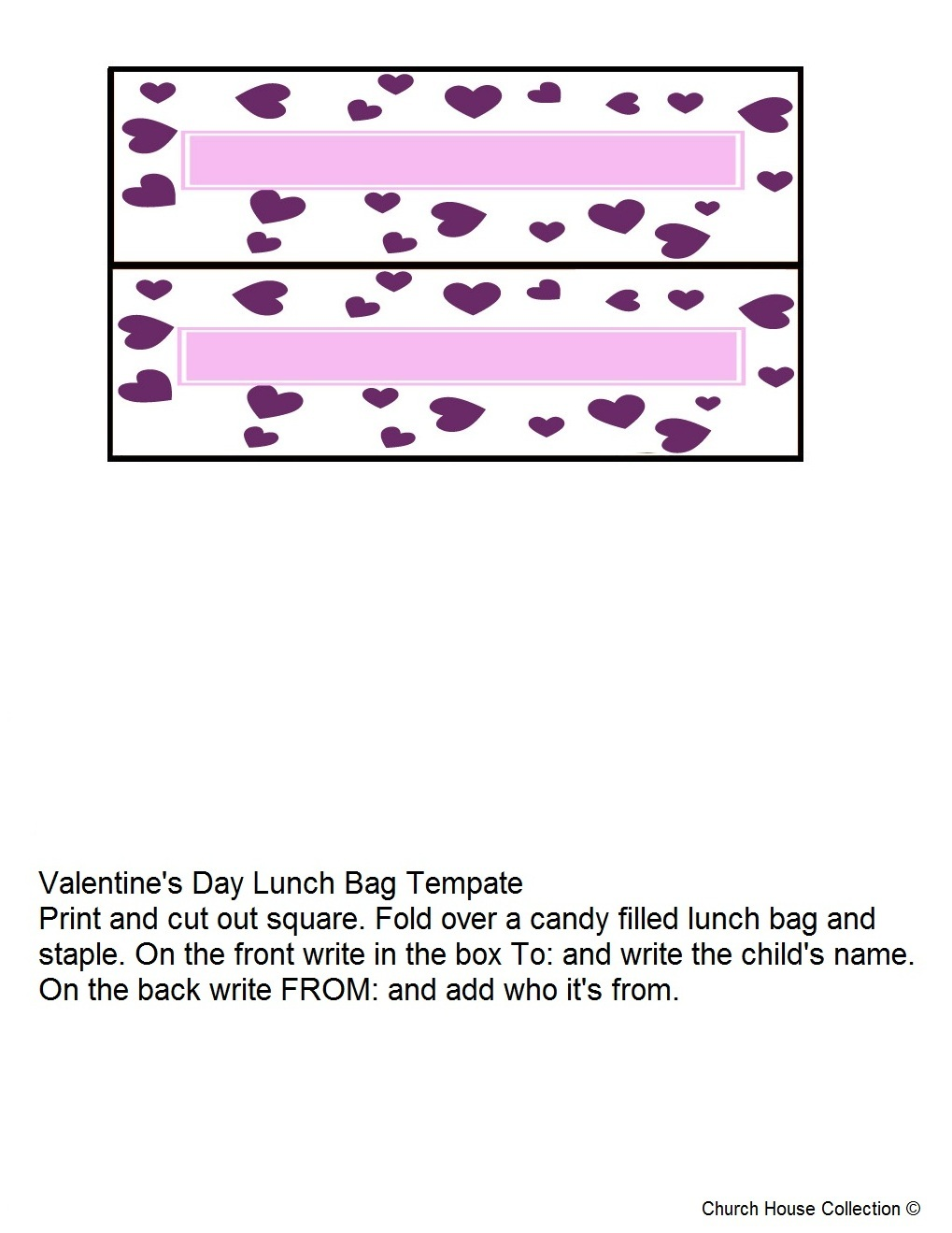 Valentines Day Treat Bag