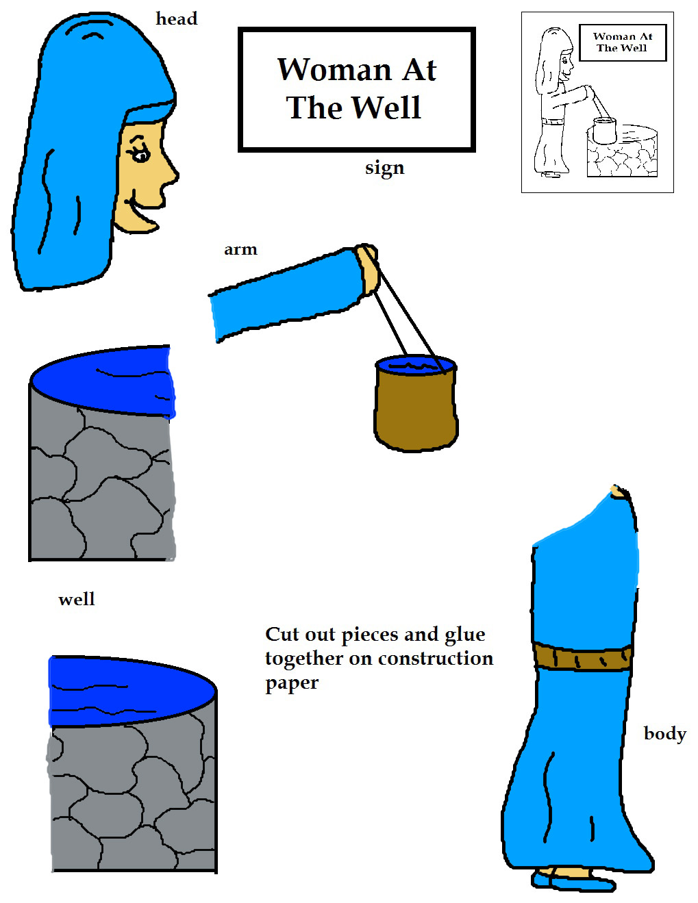 clipart jesus and the woman at the well - photo #27