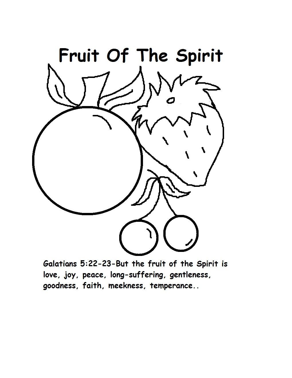 Fruit of the spirit glitter paper craft for Fruit of the spirit goodness craft