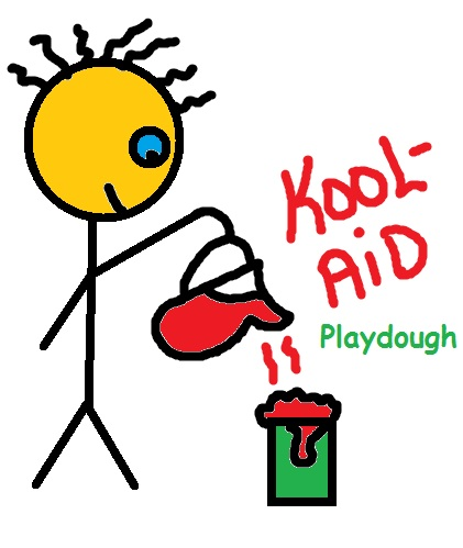 How to make koolaid playdough