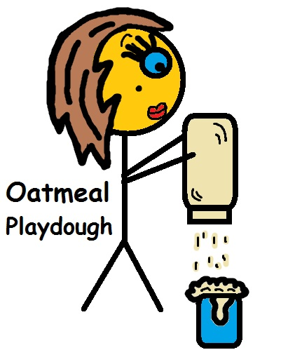 How to make oatmeal playdough