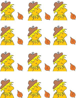 Scarecrow Stickers- Fall Crafts