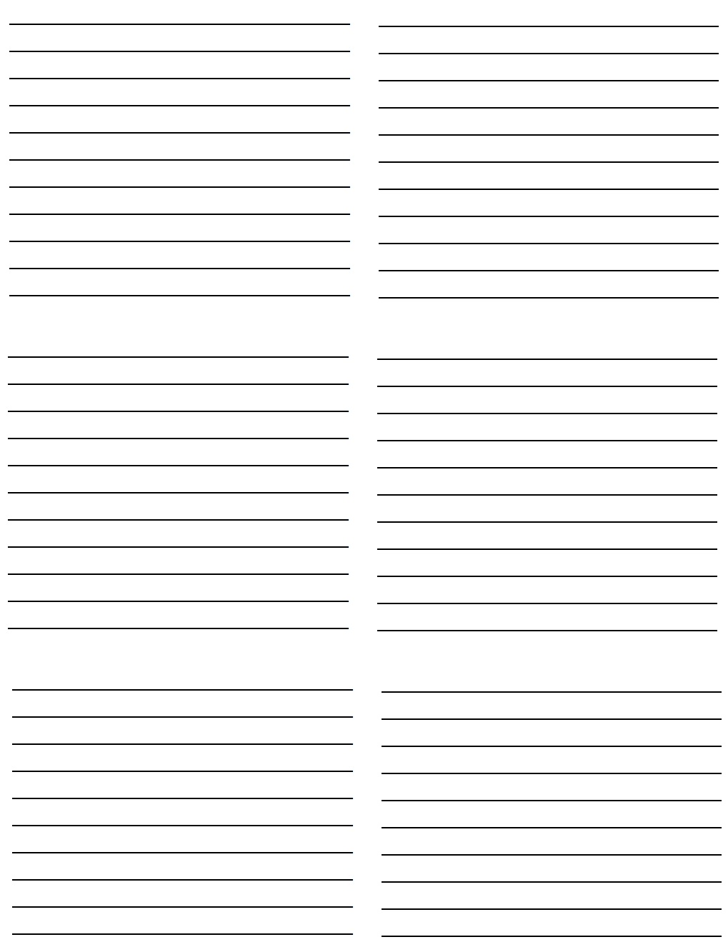 ruled paper template