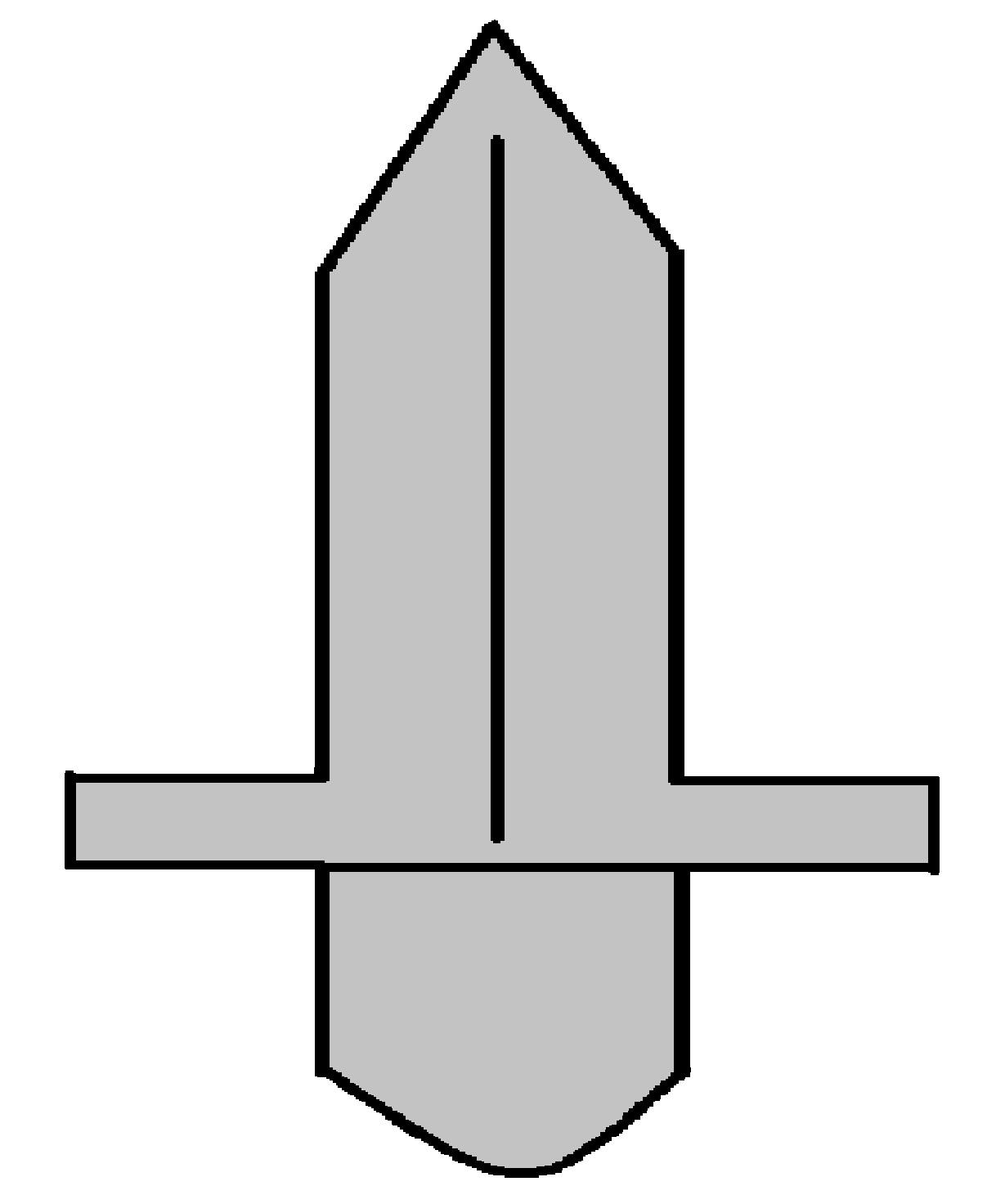 Plantilla de espada.