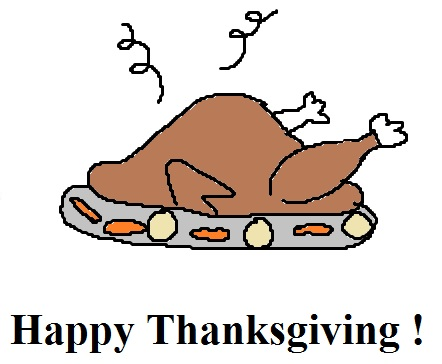 Happy Thanksgiving Turkey Dinner Template