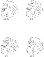 Turkey Wearing Bonnet Template
